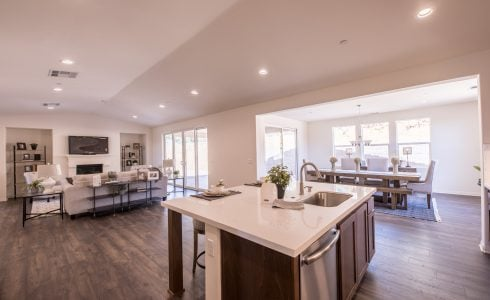 The open floorplans in these popular Central Coast homes provide excellent flow and uninterrupted sight lines.