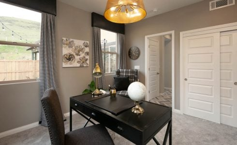 Paseos Residence 2 at Righetti is one of many Williams Homes floorplans that showcase the ideal home office space.