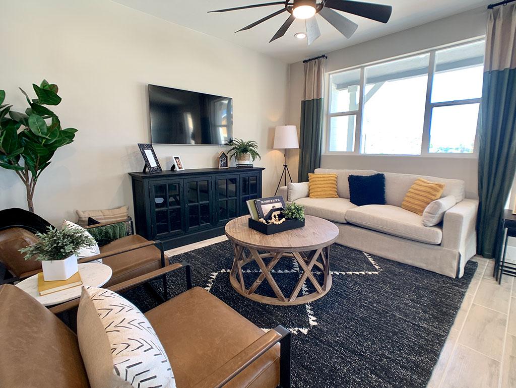 iron and oak williams homes righetti farmhouse living room